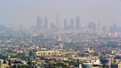 Panoramic view of Los Angeles from Mulholland Drive Stock Footage