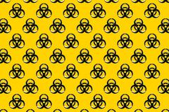 black biological biohazard symbol logo - stock illustration