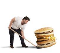 Lift giant sandwich - stock photo