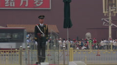 Tiananmen Square Military Officer Stock Footage