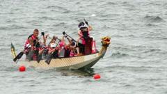 Hong Kong Dragon Boat Carnival - stock footage