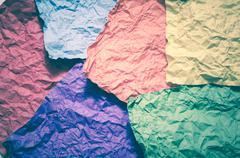 colour crumpled paper texture - stock photo