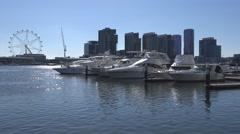 Victoria Harbour, Docklands, Melbourne - stock footage