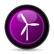 Windmill icon. Internet button on white background.. - stock illustration