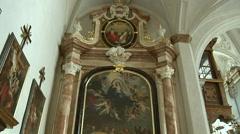 Hofkirche Church Innsbruck, Austria Stock Footage