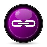 Stock Illustration of Link icon. Internet button on white background..