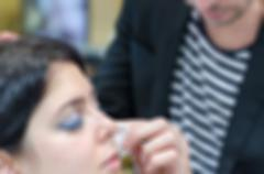 Makeup artist and model theme blur background Stock Photos