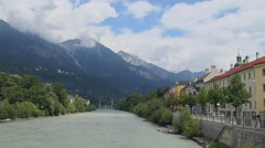 Time Lapse Of Inn River, Innsbruck, Austria Stock Footage