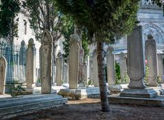Suleymaniye Mosque Cemetery in Istanbul, Turkey Stock Photos