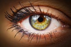 Human eye close up Stock Photos