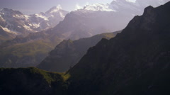 Ascending the Swiss alps Stock Footage