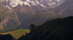 Ascending dolly shot of the beautiful Swiss alps - stock footage