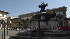Statue of Cosimo, The Medici Stock Footage