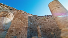 Tracking time-lapse of the Herodian ruins. Stock Footage