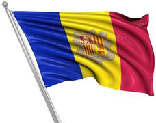 Stock Illustration of Flag of Andorra