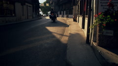 Late-afternoon footage of a road in Brienz, Switzerland Stock Footage