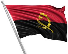 Flag of Angola Stock Illustration