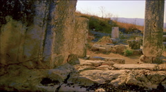 Time-lapse of old ruins on Mount Arbel, Israel. Stock Footage