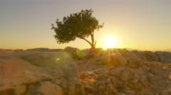 Sunset time-lapse of sunset on Mount Arbel near the Sea of Galilee. Stock Footage