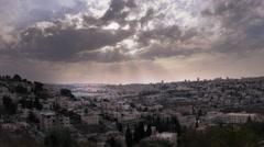 Sunset time-lapse from the BYU Jerusalem center. Stock Footage