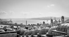 City scape. View from Suleymaniye mosque -  Istanbul, Turkey. - stock photo
