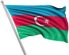 Stock Illustration of Flag of Azerbaijan
