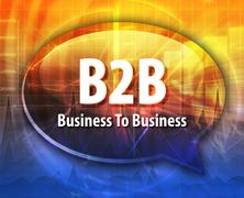 B2B acronym word speech bubble illustration - stock illustration