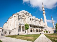 Suleymaniye Mosque in Istanbul, Turkey - stock photo