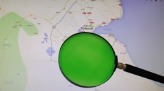 DJIBOUTI seen trough a green magnifying glass Stock Footage