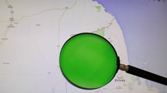 ERITREA seen trough a green magnifying glass - stock footage