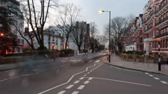 Time-lapse of traffic at Abbey Road in London. Stock Footage