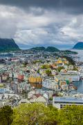 Alesund norway cityscape Stock Photos