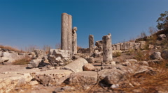 Moving time-lapse of some ruins on Mount Arbel, Israel. Stock Footage