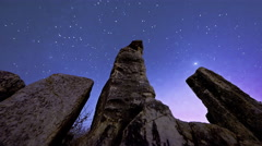 Star time-lapse with olive tree in Bethlehem, Israel Stock Footage
