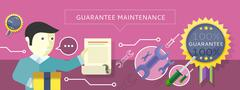 Stock Illustration of Concept to Provide Service Guarantees Maintenance