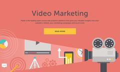 Stock Illustration of Video Marketing. Concept for Banner, Presentation
