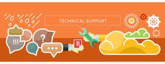 Technical Support Concept for Banner, Presentation - stock illustration