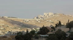 View of West Bank from Jerusalem Stock Footage