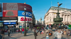 Time-lapse of Piccadilly Circus during daytime Stock Footage