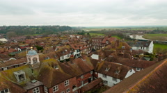 Time-lapse of the rooftops of Rye, East Sussex, England. Stock Footage