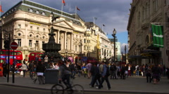 Piccadilly Circus and surrounding buildings in London. Stock Footage