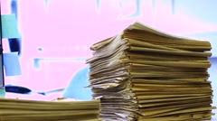 A stack of old documents - stock footage