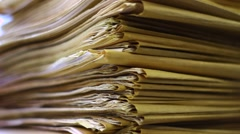 A stack of maps - stock footage