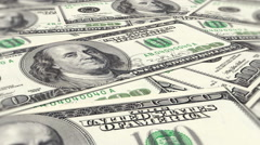 Background money dollars animation - stock footage