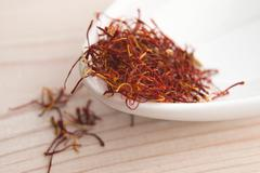 Stigmas of saffron Stock Photos