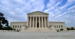 US Supreme Court Timelapse View with No People Stock Footage
