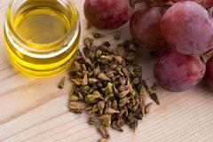 grape seed oil - stock photo