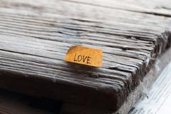 Lettering love Stock Photos