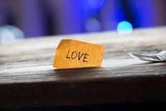 lettering love - stock photo