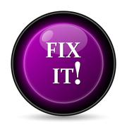 Stock Illustration of Fix it icon. Internet button on white background..